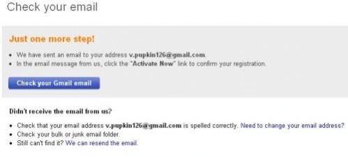 проверьте Ваш почтовый ящик для регистрации на Интернет аукционе ebay