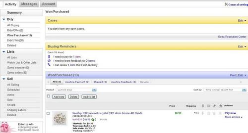 Оплата ebay