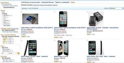 Amazon результат поиска