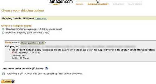 Amazon доставка по адресу