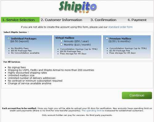 Shipito service