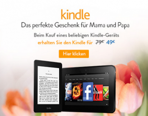 Amazon Kindle 49 euro discount
