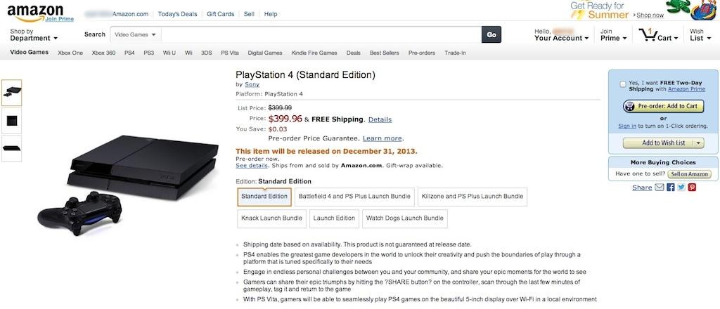 02 PS4 Amazon